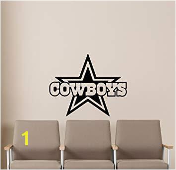 NCAA Dallas Cowboys Wall Decals Sports Football Club Emblem Kids Children Poster Stencil Decor Sports Vinyl