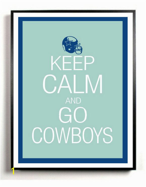 Dallas Cowboys Art Print Keep Calm and Carry NFL football team game room wall art poster $4 50 via Etsy
