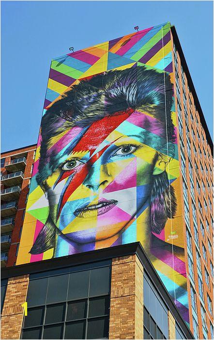 david bowie davidbowie rockstar icon jerseycity jersey ciry mural murals famous world renowned art graffiti kobra city destination