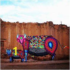 Magical wall creation by Mexican artist Spaik spaik isupportstreetart issa interventions wall mural streetart graffiti