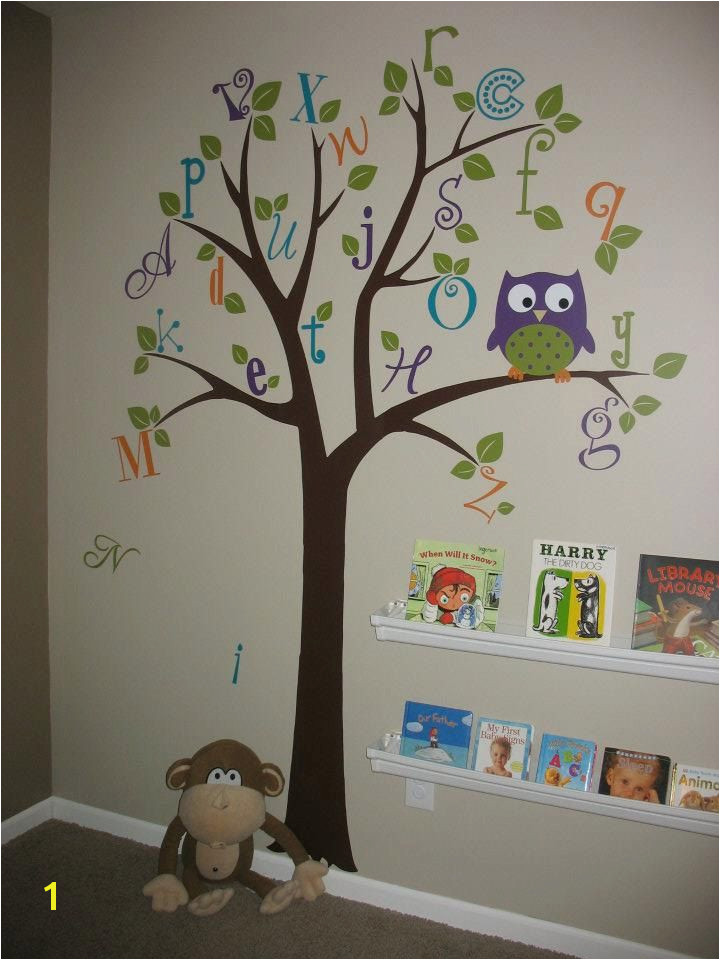 tree painting on kids wall