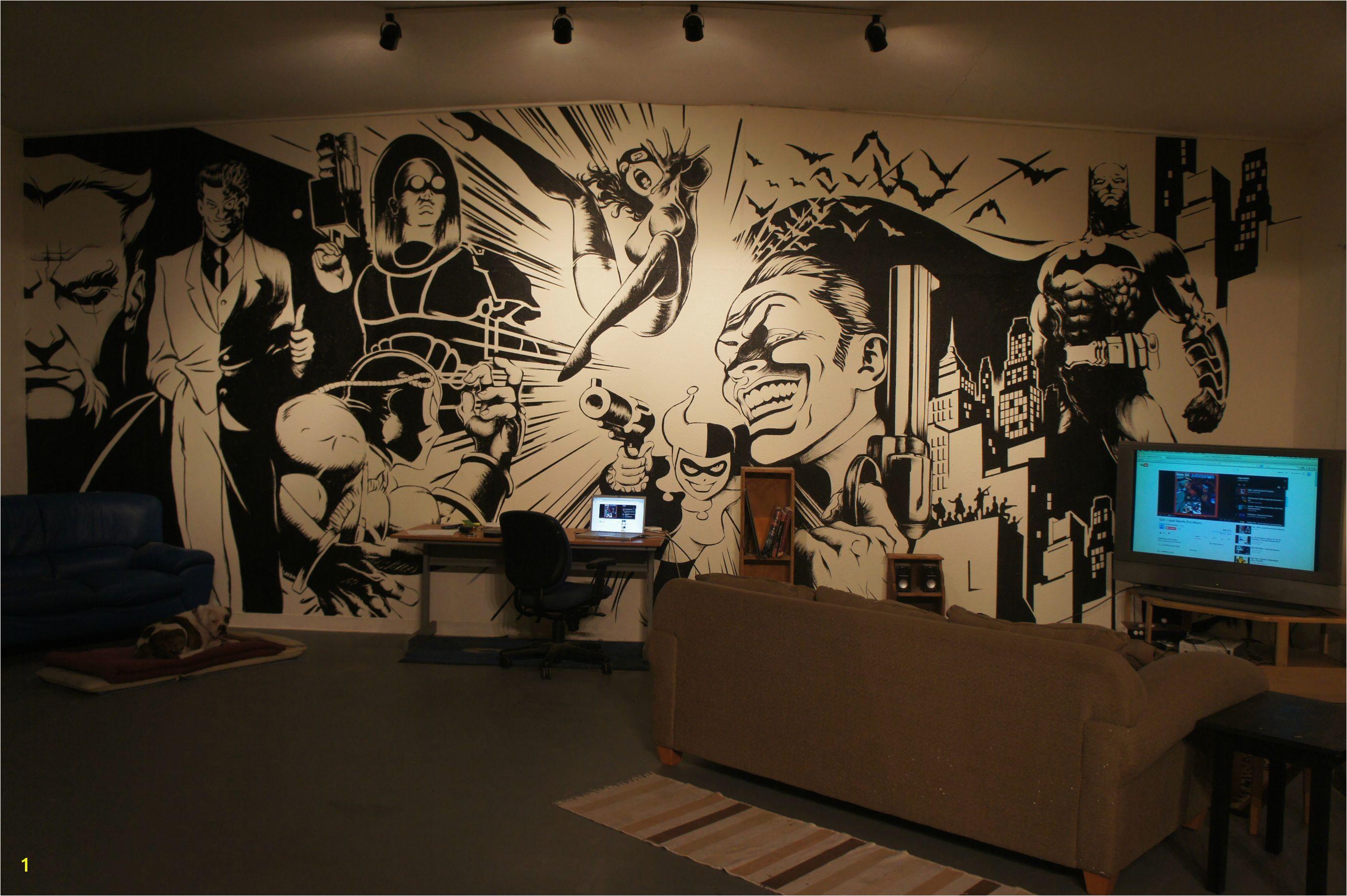 Dc Comics Wall Murals Batman Wall Mural Art On Inspiration