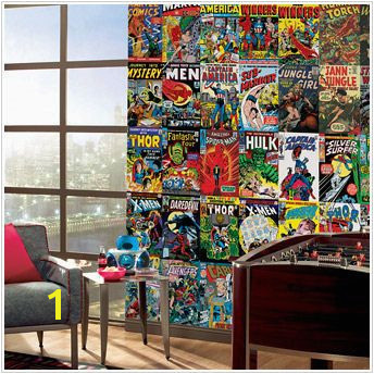 I m doing a ic book themed game room Marvel ic Book XL Wall Mural 9 x 15