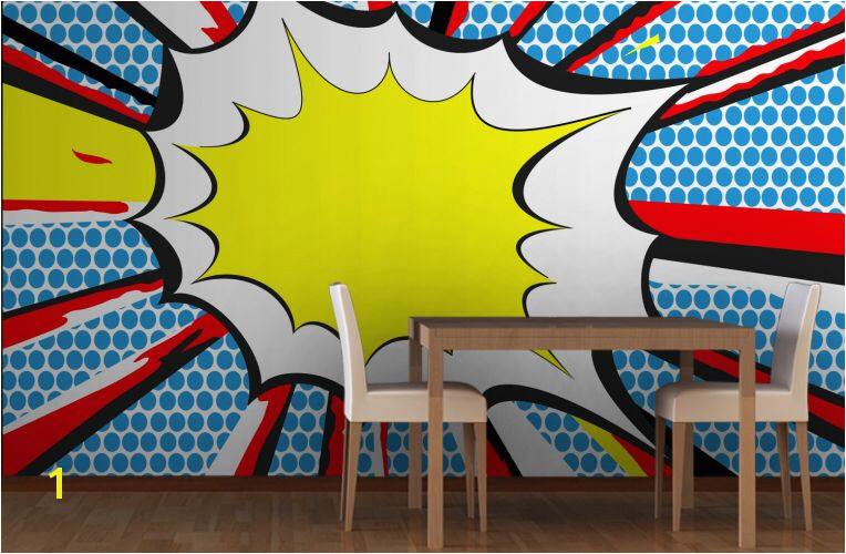 Pop Art ic Book Wall Mural