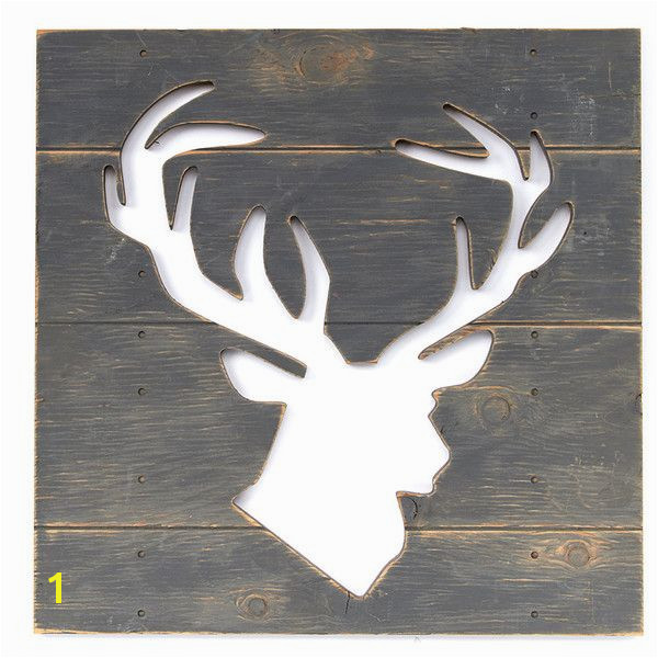 Twelve Timbers Gray Deer Cutout Wall Art $25 ❤ liked on Polyvore featuring home home decor wall art deer wall art grey home decor deer home decor