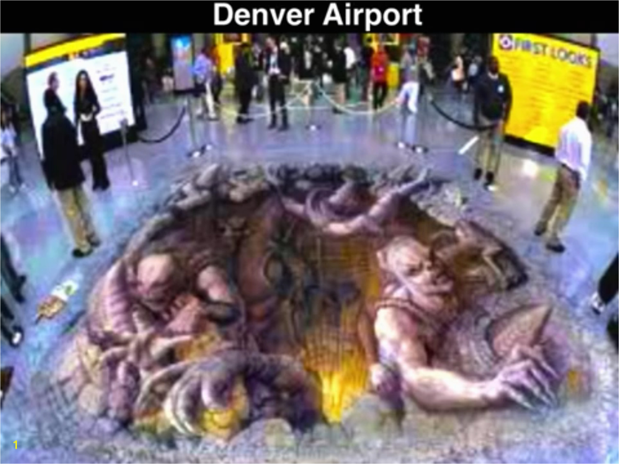 Mural on the floor of the Denver airport