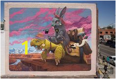 """Dulk """"The Tortoise & Harriet"""" for the first edition of the Colorado Crush street art in Denver Colorado USA 2016"""