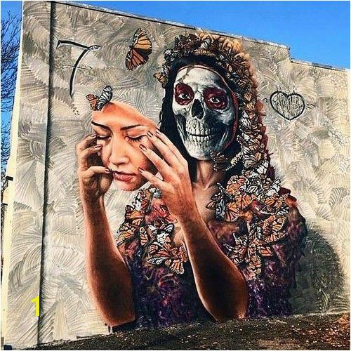 Obra de arte realizado en mural de la ciudad de Denver Colorado por el artista