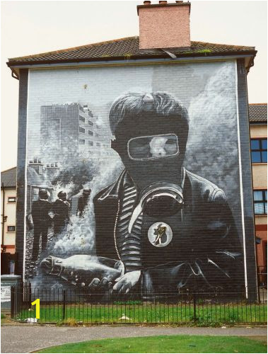 A mural from the Bogside Neighborhood in Derry Co Derry Northern Ireland