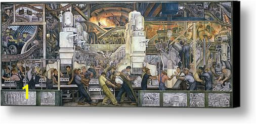 Detroit Industry North Wall Canvas Print Canvas Art By Diego Rivera