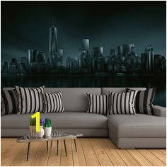 5041 4V 1 Fotomural Dark New York Skyline Ideal Decor