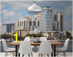 West Palm Beach Skyline Wall Mural