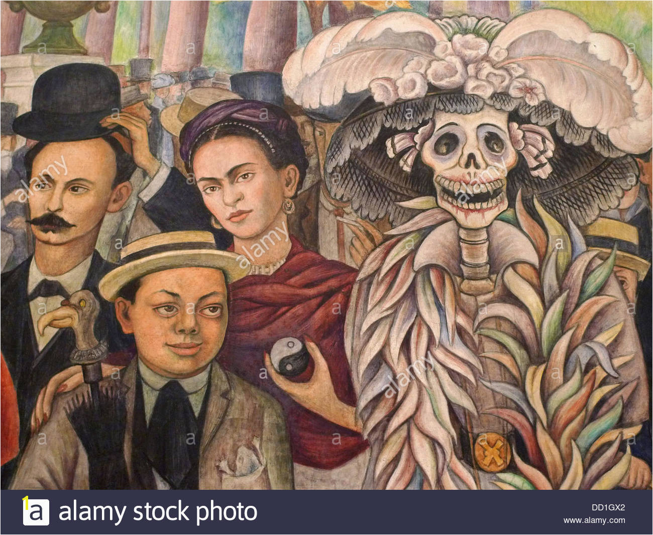 Museo mural Diego Rivera Ciudad de México Stockbild