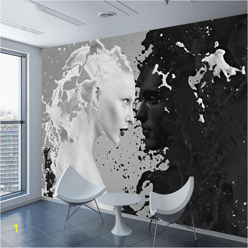 Difference Between Wallpaper and Wall Mural Custom Black White Milk Lover Wallpapers for Wall 3 D Living
