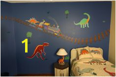 Items similar to Dinosaur Theme Wall Mural painted directly on wall on Etsy