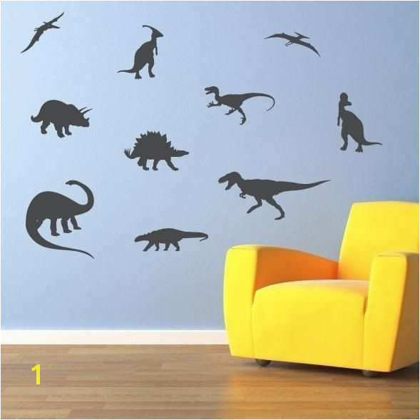 Dinosaur Wall Decal Set of 10 Dinosaur Bedroom Decor Boy Bedroom Stickers