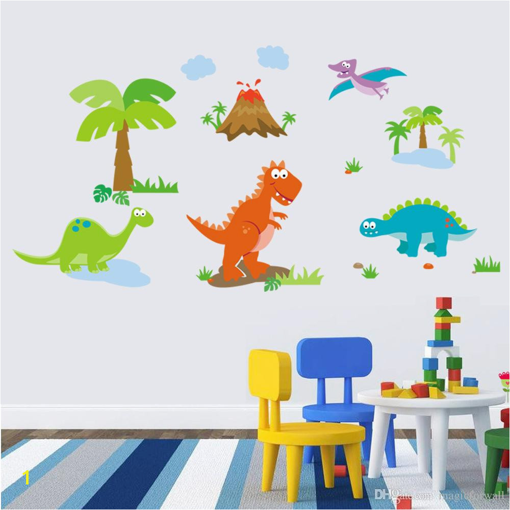 Lovely Dinosaur Paradise Wall Art Decal Sticker Decor For Kid S Nursery Room Home Decorative Murals Posters Wallpaper Stickers Decal Wall Sticker Decal Wall