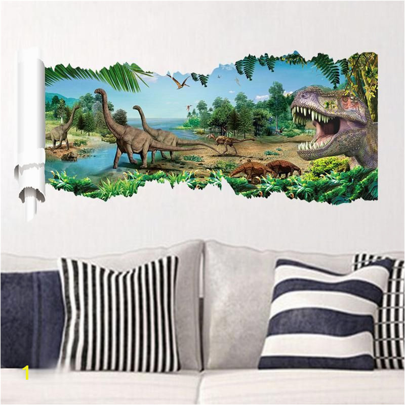 Dinosaurs Murals Walls 3d Dinosaurs Wall Stickers Jurassic Park Home Decoration 1458 Diy
