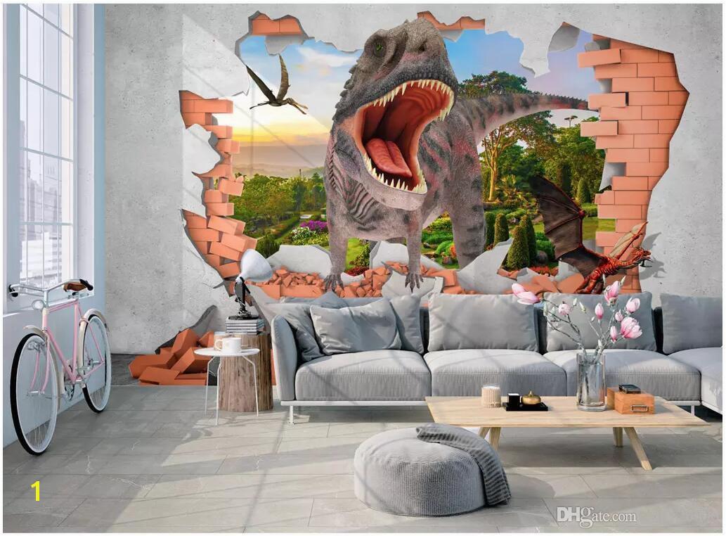 Dinosaurs Murals Walls 3d Wallpaper Custom Mural Jurassic Era Dinosaurs Infested