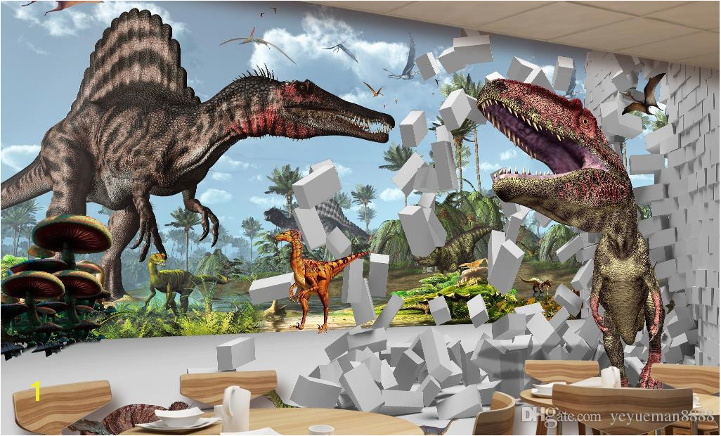 Dinosaurs Murals Walls Wall Background Wallpaper Diamond Custom 3d Wall Mural Wallpaper