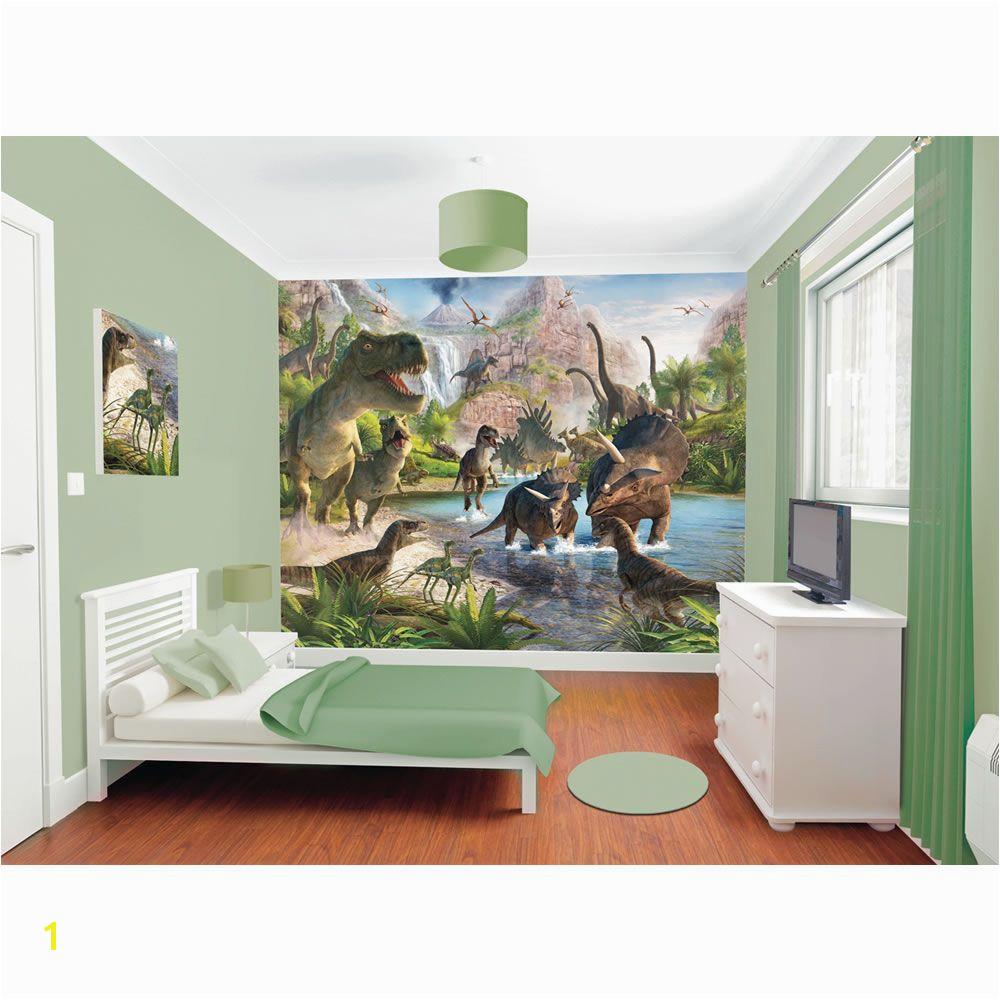 Walltastic Dinosaur Land Wallpaper Mural 8ft x 10ft Boys
