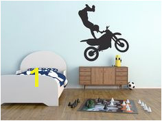 Custom Wall Graphic Decal Dirtbike xGames by InspiringSpacesDecor Custom Wall Dirt Bikes Decals