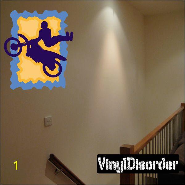 Dirt Bike Wall Decal Vinyl Sticker Car Sticker Die Cut Sticker CDSCOLOR004