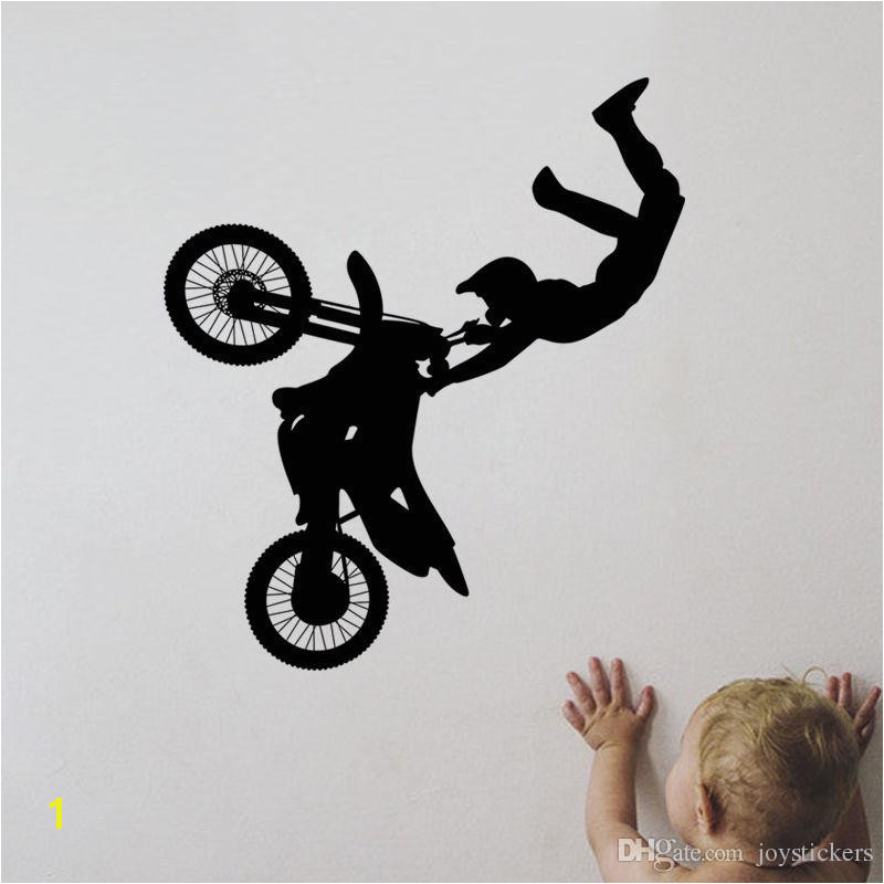 Tribal Bike Motorcycle Vinyl Removable Wall Stickers Sports Decor Mural Room Paper Art Decal For Living Room Home Decor 51 57 Cm Mario Wall Decals Mario
