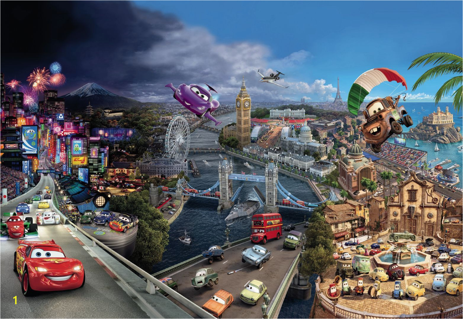 Disney Pixar Cars Wall Mural Wallpapers