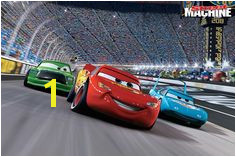 Disney Cars race track self stick mini wall mural 31 625 inch by 28 375 inch