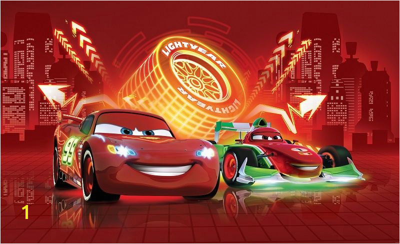 lightning mcqueen cars wall murals [2] 1960