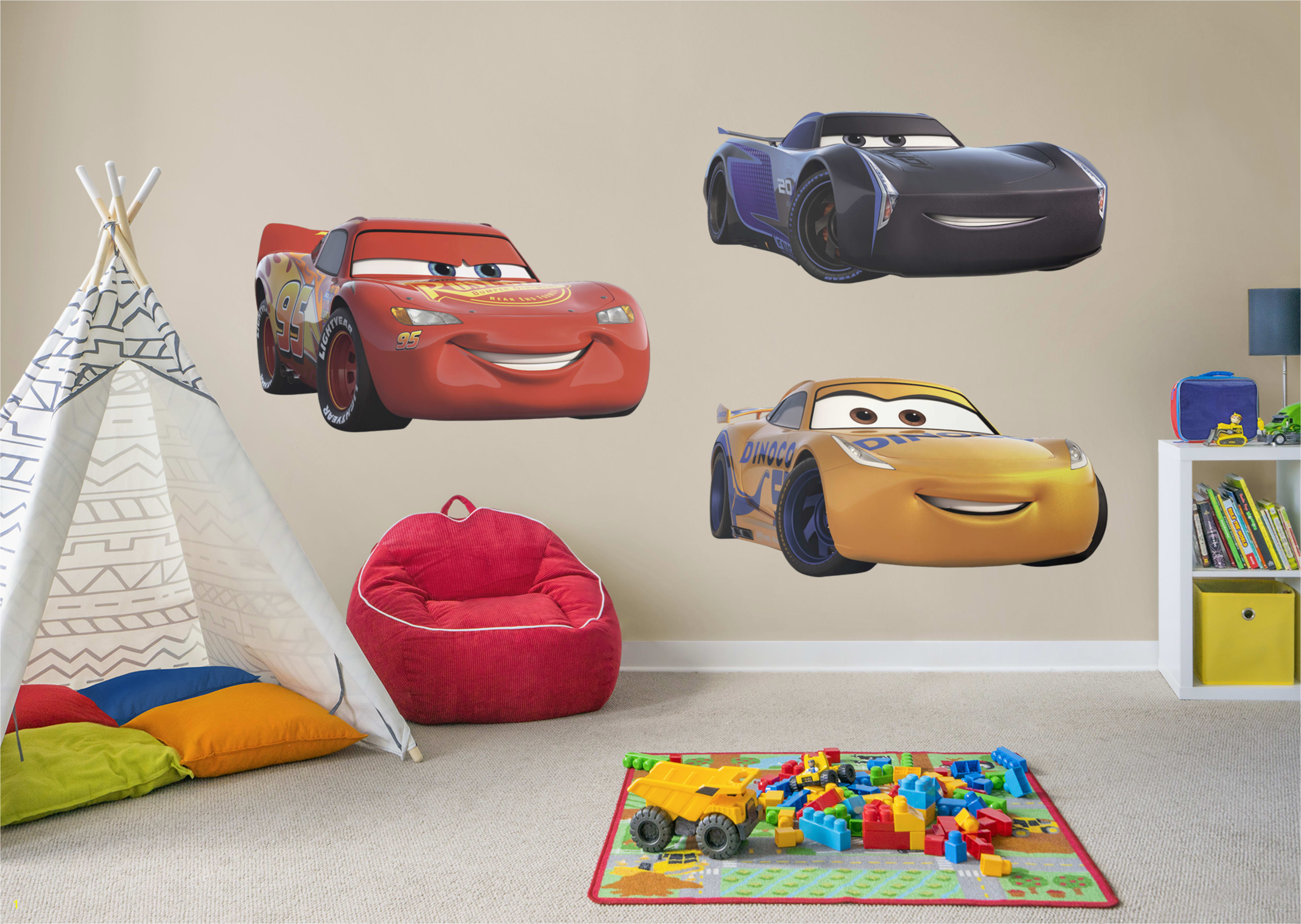 Cars 3 Collection Giant ficially Licensed Disney PIXAR Removable Wall Decals Fathead