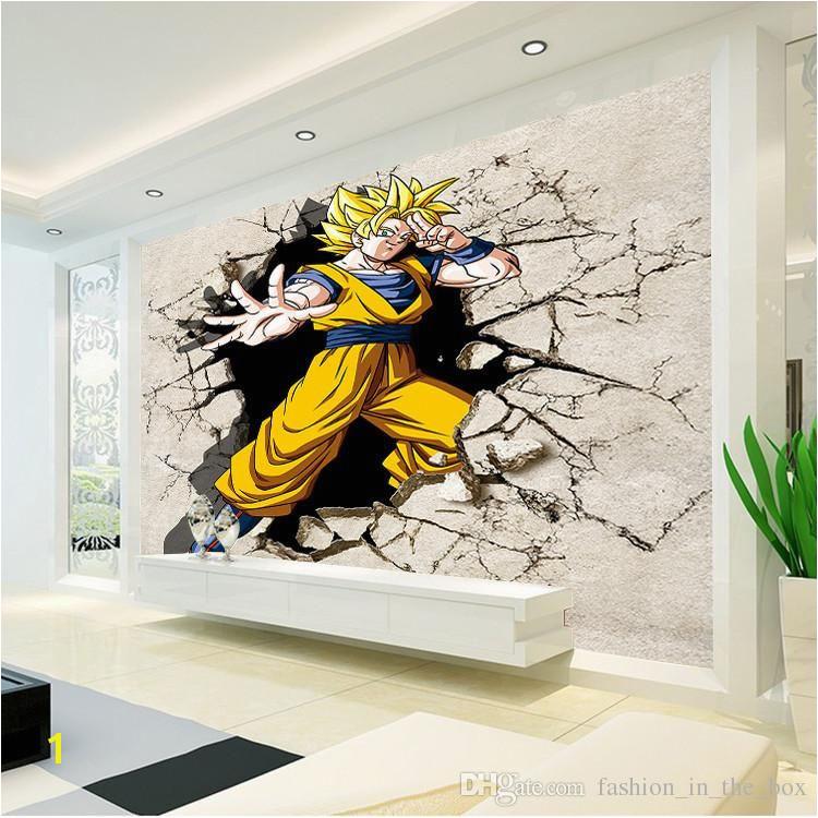 Dragon Ball Wallpaper 3D Anime Wall Mural Custom Cartoon Wallpaper Boys Kids Bedroom Livingroom wall Art Room Decor Hallway