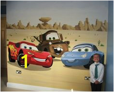 disny world disney cars mural pixar wall walltastic