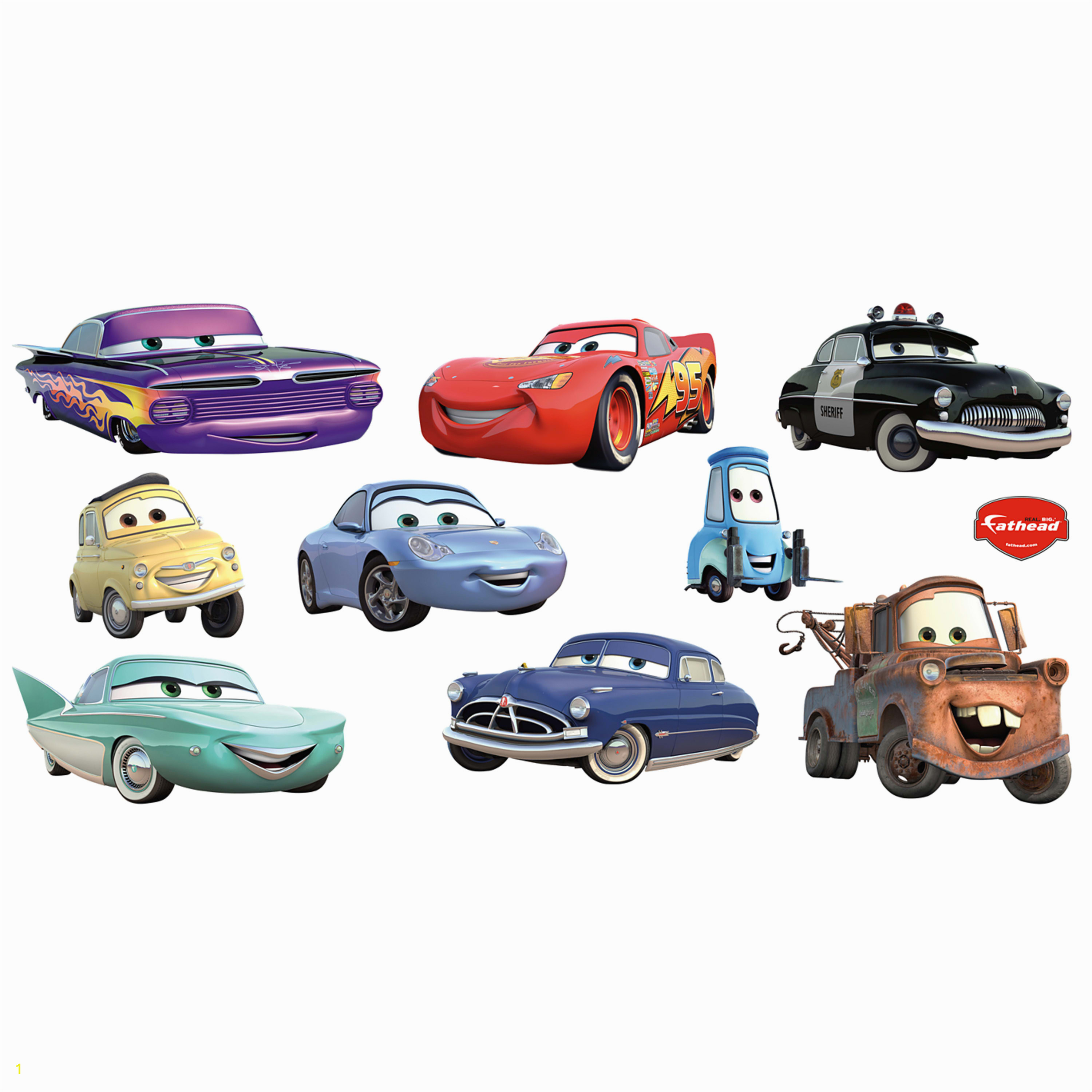 Cars Collection X ficially Licensed Disney PIXAR Removable Wall Decals Fathead