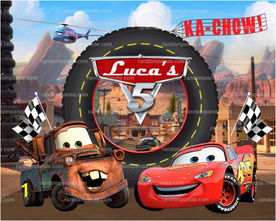 Personalize Kids Poster Lightning Mcqueen Poster Disney Cars Party Wall Art
