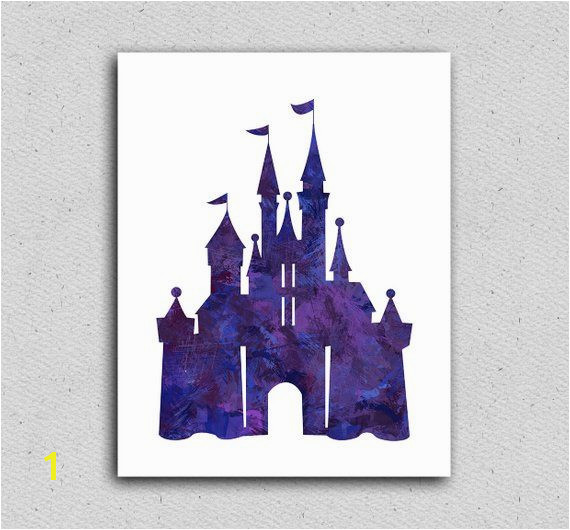 disney castle art print disney castle decor disney wall art