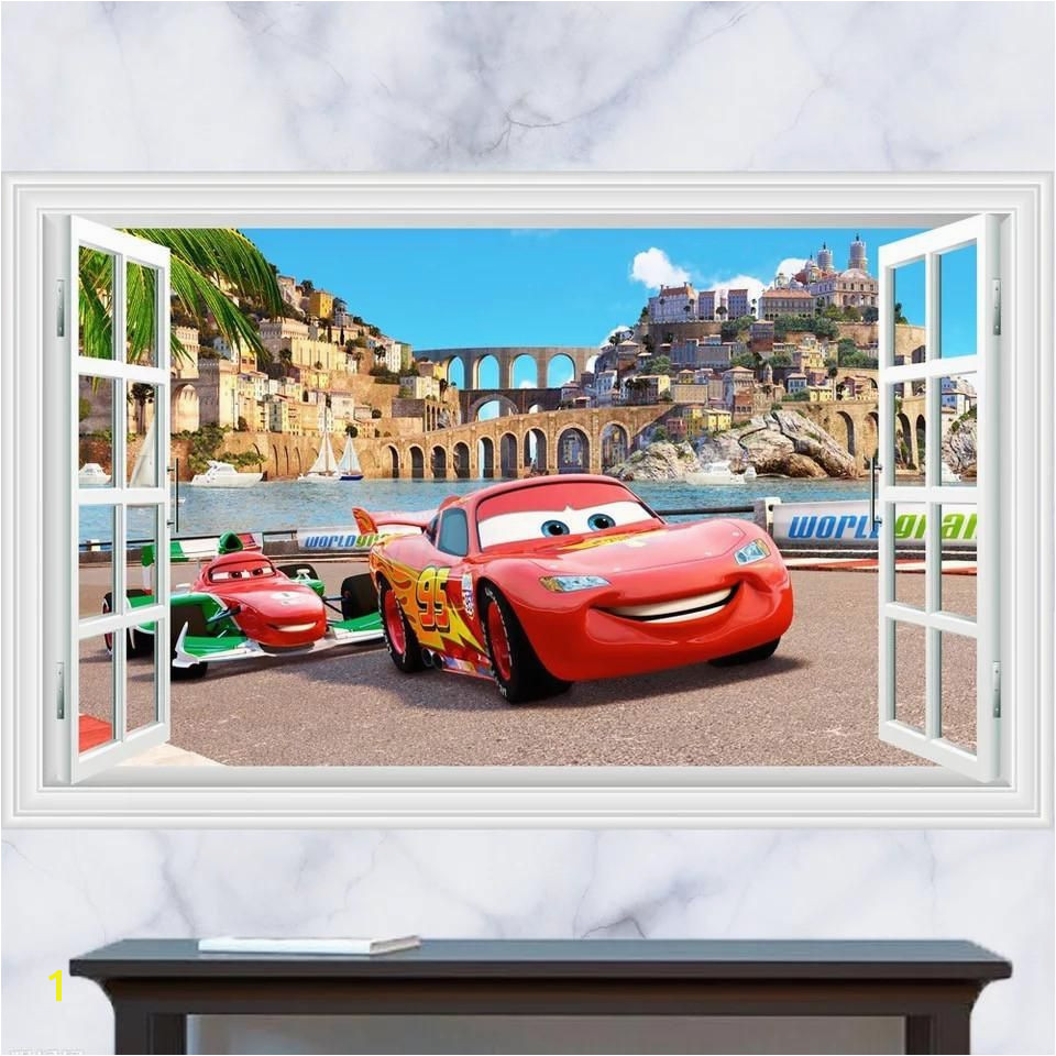 Disney Cars Lightning McQueen Wall Stickers – the treasure thrift