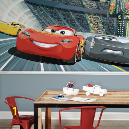 Attractive Disney Pixar Cars 3 Peel And Stick Wall Mural Part 2