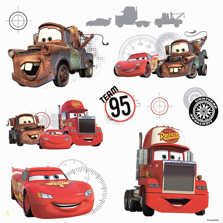 Disney Pixar Cars Wall Mural Roommates Rmk2614slv Disney Pixar Cars Team 95 Peel & Stick Wall