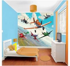 Disney s Planes will be swooping into your childrens bedroom with this colourful wall mural