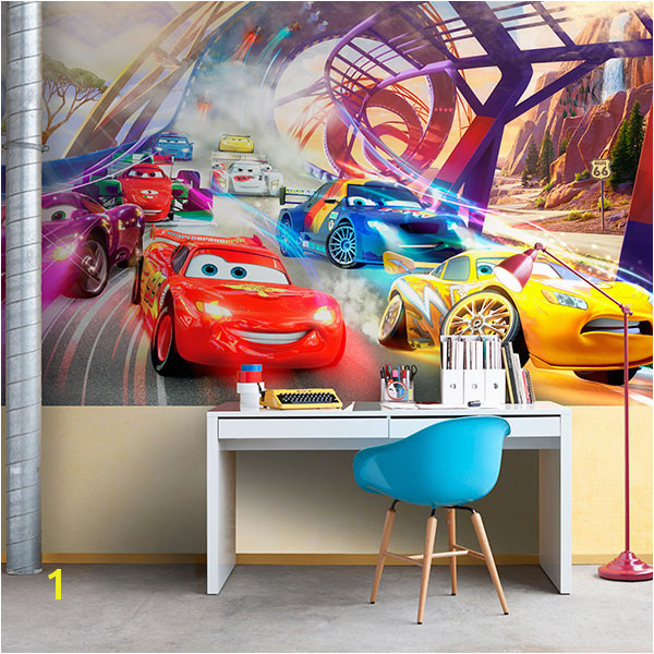 Wall Murals Cars race Disney
