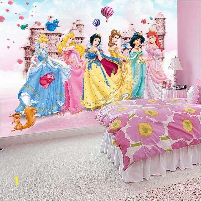 Disney Princess Wall Mural Background Wallpaper graphy Princesses Cartoon Murals 3d Wall