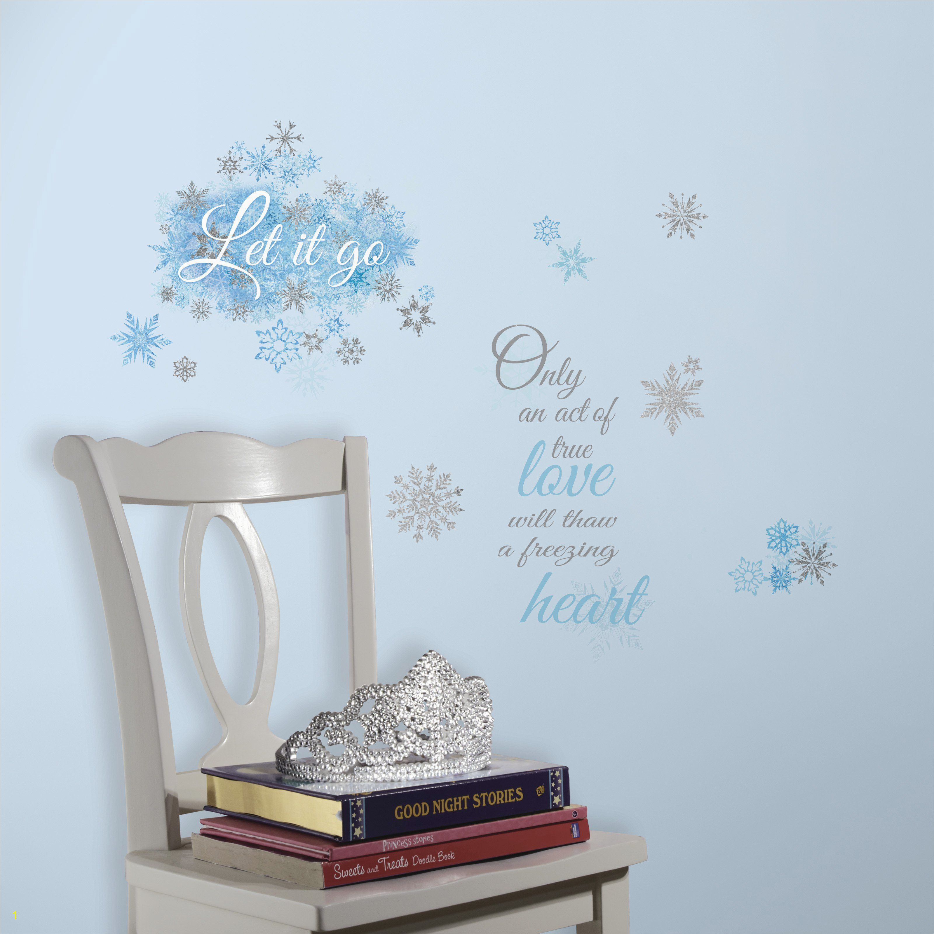 Disney Princess Mural Stickers Disney Frozen Let It Go Peel and Stick Wall Decals