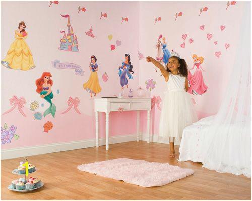 Disney Princess Mural Stickers Disney Princess Wall Decals Princess Room Wall Decals