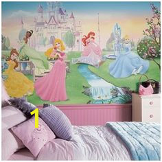 Dancing Disney Princesses Wall Murals for Girls Rooms Huge Realistic Dancing Disney Princesses Wall Murals