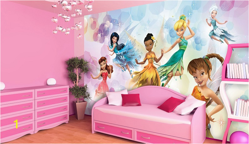 Disney Princess Wall Mural Uk Disney Fairies Wall Murals for Girls