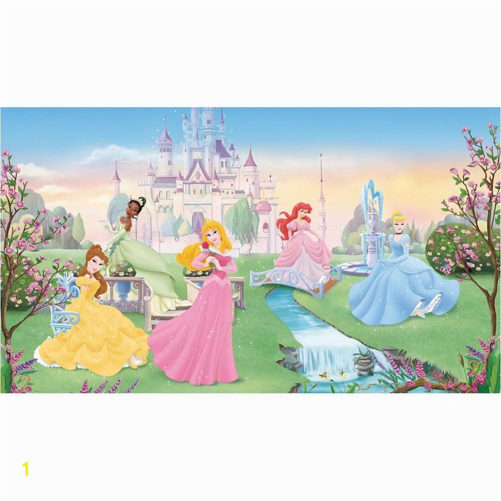 Disney Dancing Princesses Prepasted Accent Wall Mural