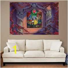 Beauty and the Beast Stained Glass Mural Huge ficially Licensed Disney Removable Wall Graphic