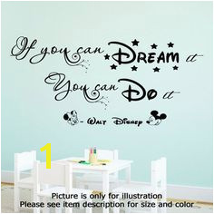 If you can Dream it You can do it Walt Disney Wall Quote If You Can Dream It Do It Vinyl Decal Minnie Mickey Stickers Note Not removable from